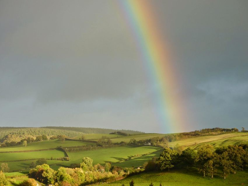 Rainbow over Dick Turpin Cottage