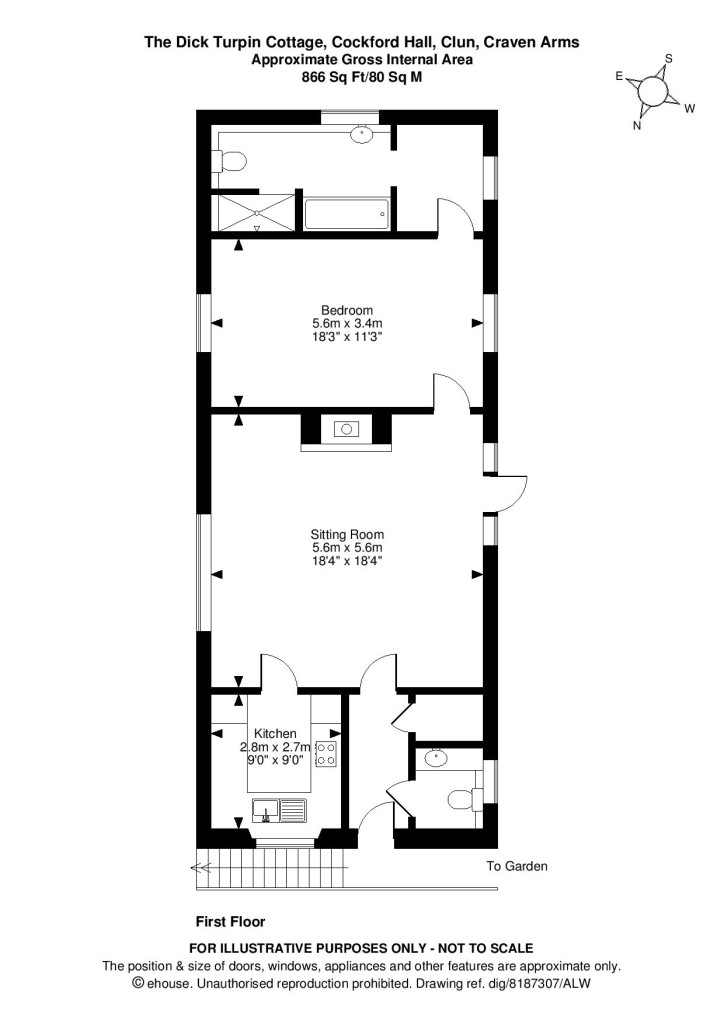 Dick Turpin Cottage Shropshire Holiday Let Floorplan