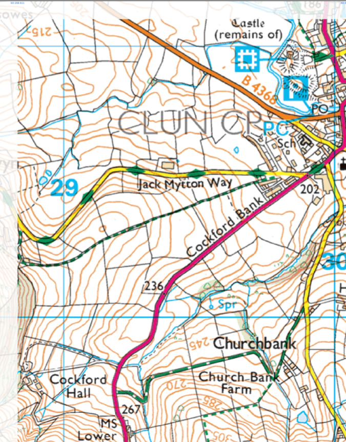 Map to Clun
