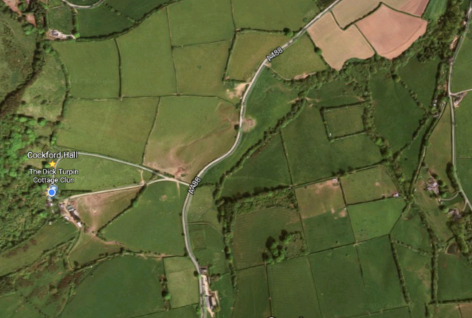 Satellite Map to Clun
