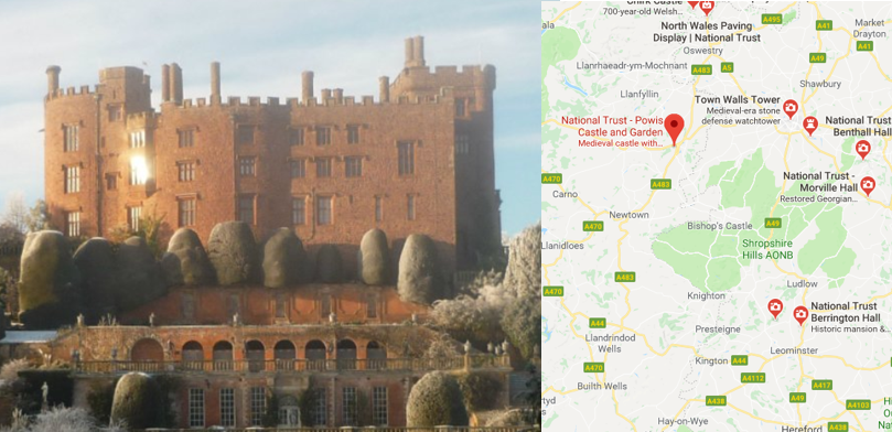 Powis Castle map