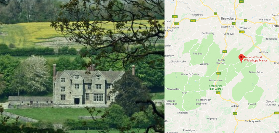 Wilderhope Manor map